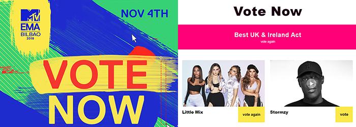 """""""Best UK & Ireland Act"""" #MTVEMA"""