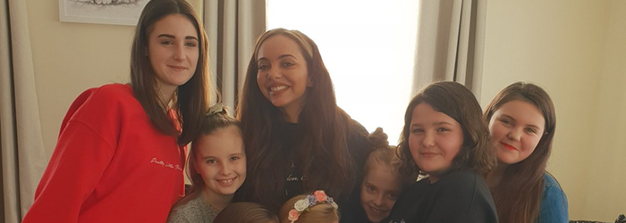 Jade brought joy to a group of youngsters in South Shields when she paid them a special visit.