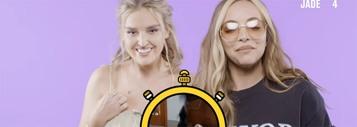 Little Mix's Perrie and Jade are super competitive! | Animal Timers