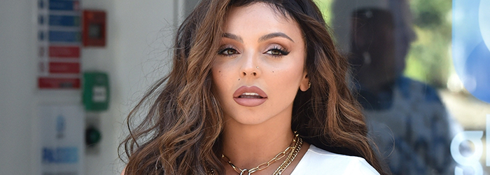 Jesy outside Global House in London (02.09)