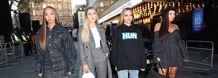 Little Mix arriving at KISS FM UK radio studios in London (04.12)